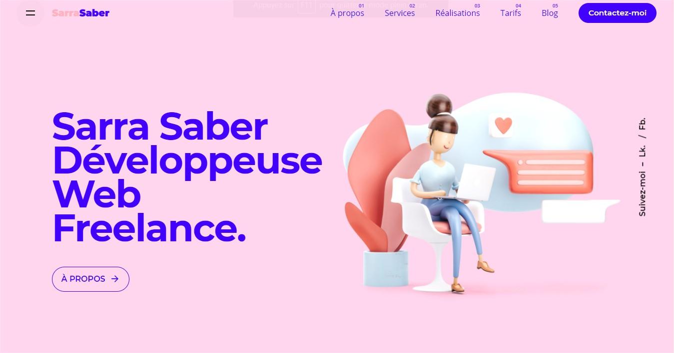 Création Site Web WordPress - Développeuse Web Freelance - Sarra Saber